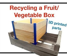 Recycled Wood Box Using 3D Printing Parts