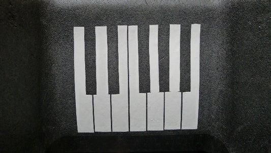 Decorative Duct Tape Piano Keyboard