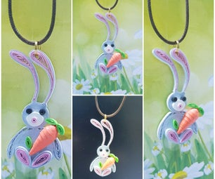 Kids Bunny Necklace - Easter Jewelry