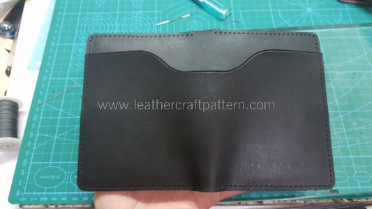 Glue Outside Pouch on Surface' Grain Side.