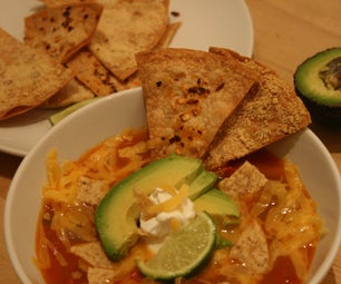 Tortilla Soup Two Ways (Vegetarian or Chicken)