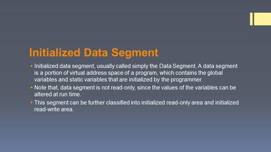 Intialized Data Segment