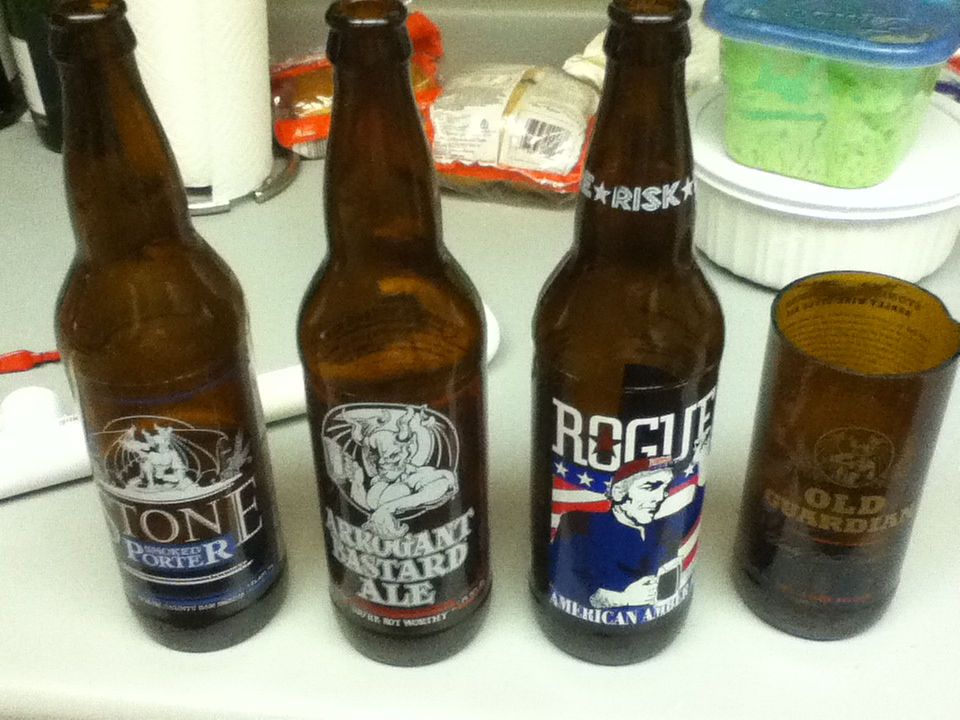 Recycling Beer Bottles Into Glass Cups