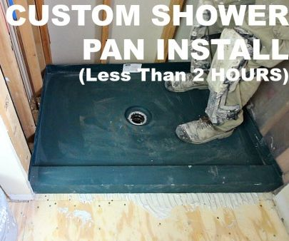 How to Install Custom Shower Pans in Less Than 2 Hours
