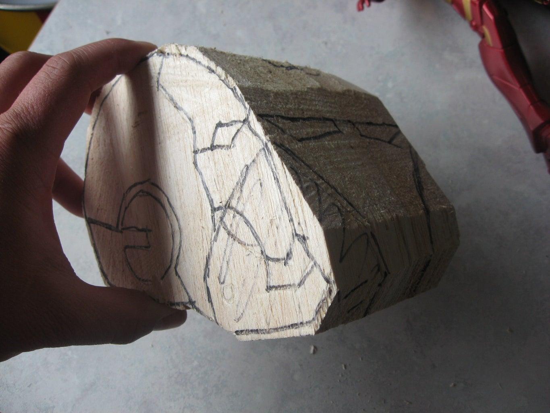 Carve Basic Shape, Lay Out Details