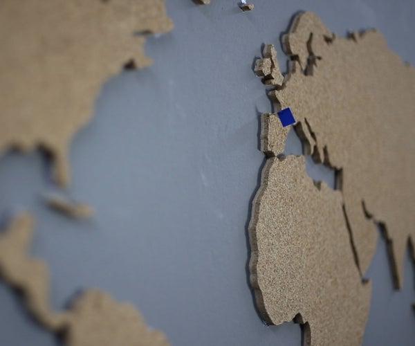 Cork World Map