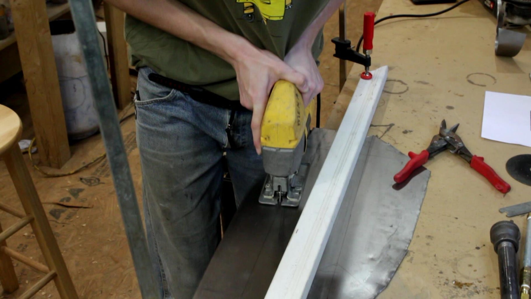Cutting Out Sheet Steel