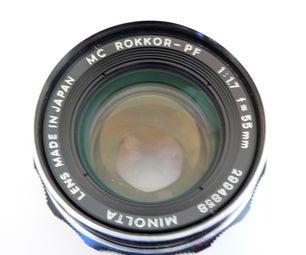 Convert a Minolta MC Rokkor 55mm F1.7 for a Canon EOS DSLR