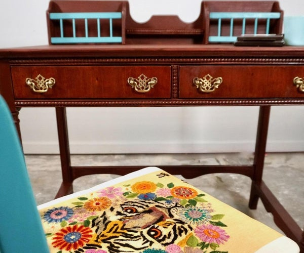 Vintage Trash to Treasure Desk and Chair Makeover