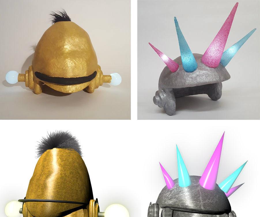 CNC Milled Military Helmets (or Bert & Ernie Helmets)