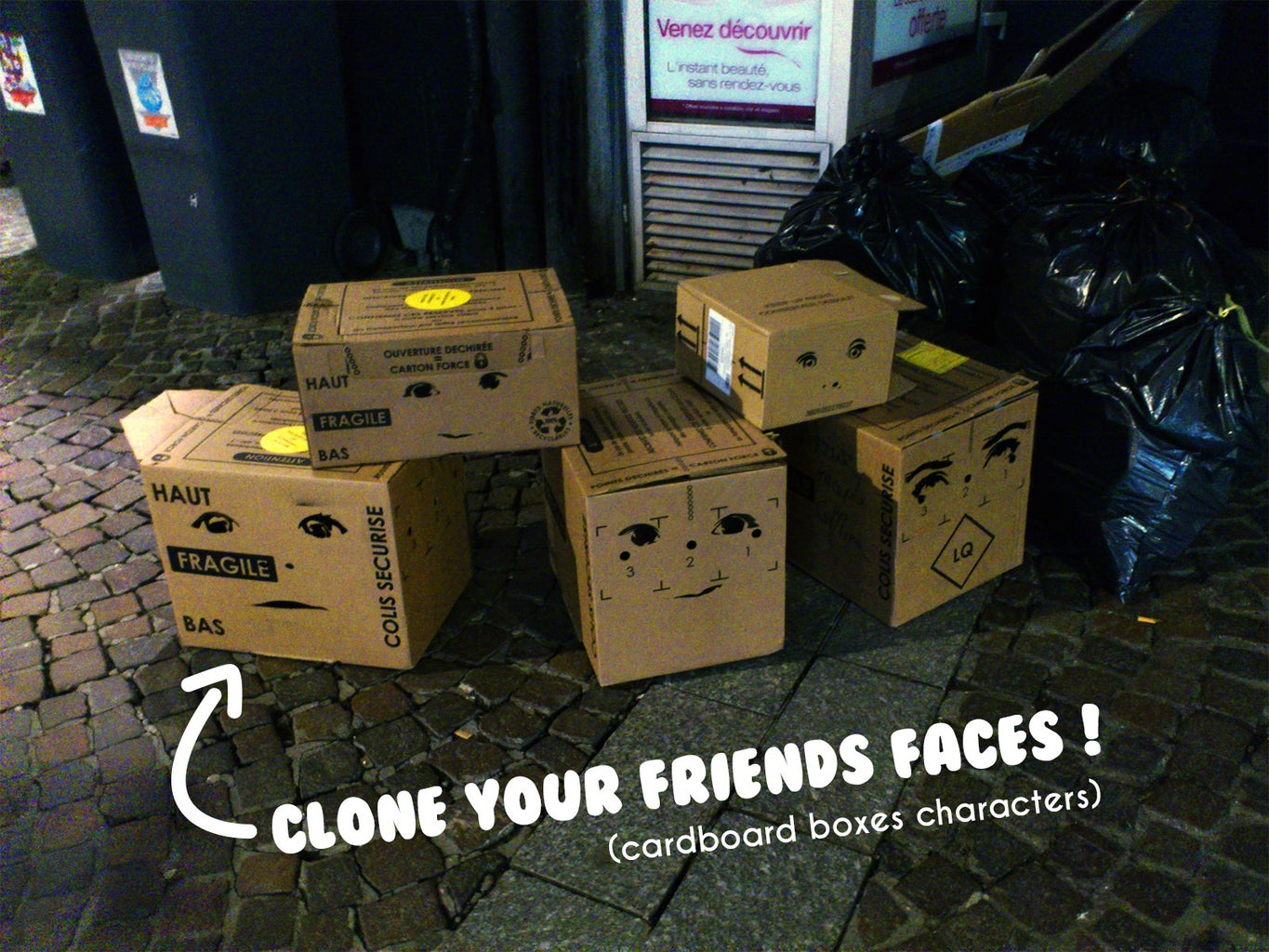 Clone Your Friends Faces on Cardboard Boxes ! (Cardboard Boxes Characters)