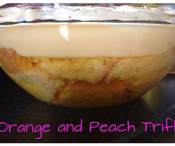 Orange and Peach Trifle