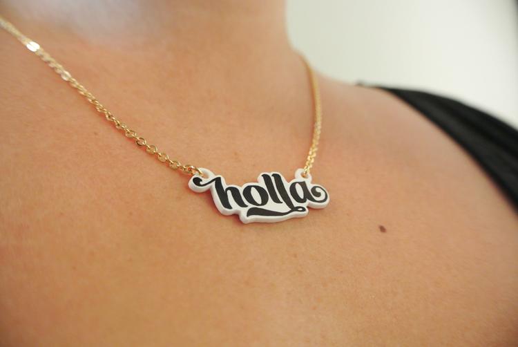DIY Typography pendants