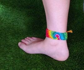 Alpha Pattern Macrame Bracelet: Spiral Tie Dye
