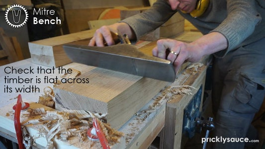 Prepare the Timber Slabs - Check for Flatness