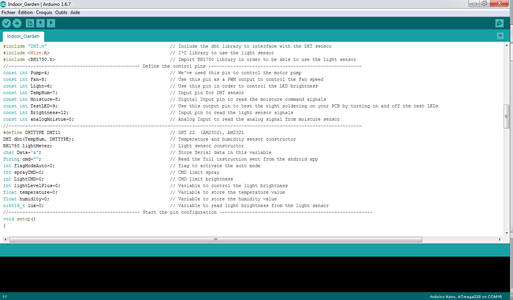 The Arduino Code and Test Validation