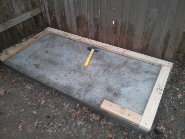 Laying a Foundation for a Tool Shed or Children's Playhouse