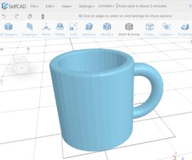 Learn SelfCAD- an Online 3D Modeling Software: Designing a Mug