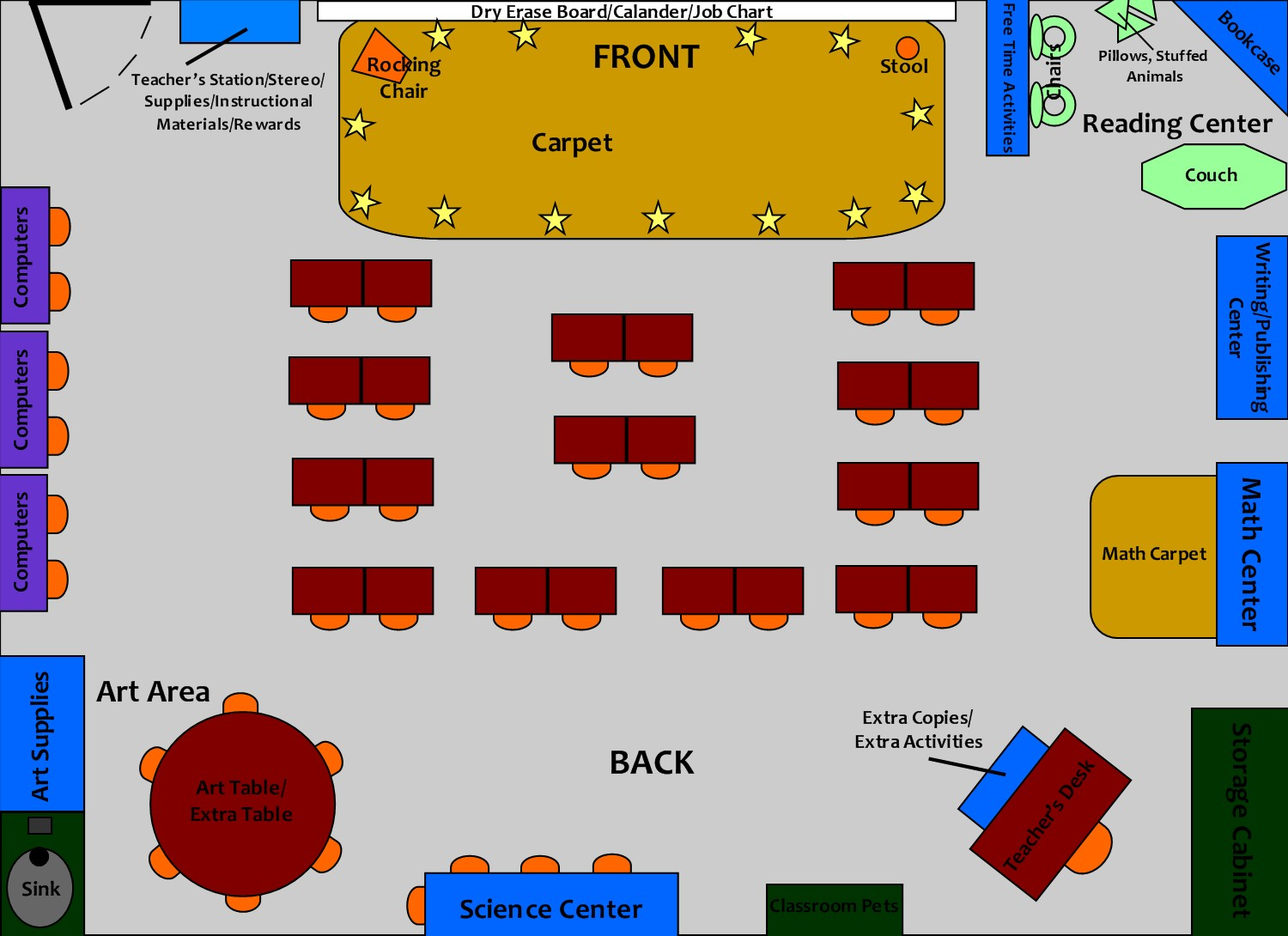 Pin elementary classroom seating chart image search for Classroom layout creator