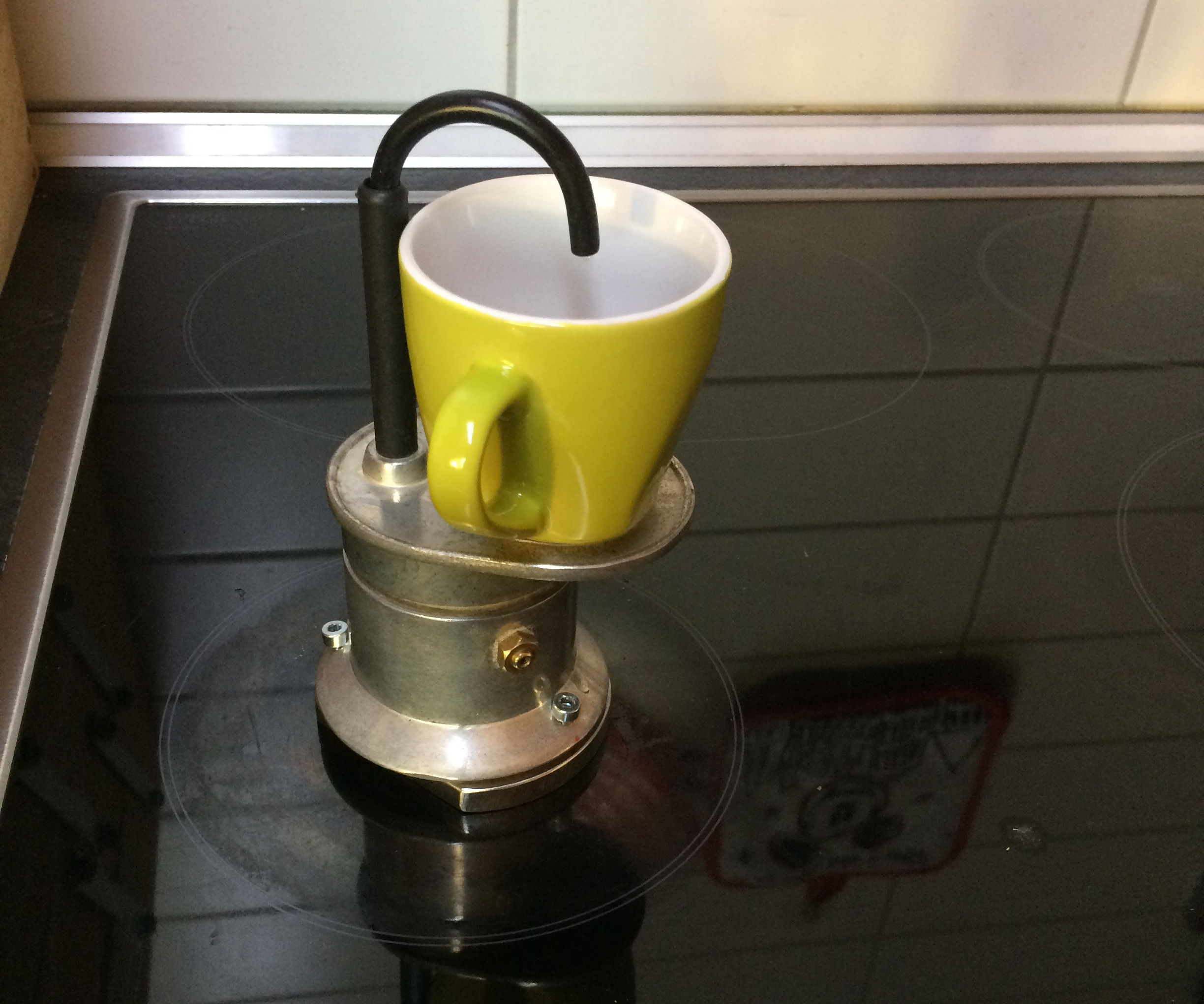 Espresso Maker Modified for Induction