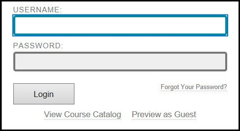 Log in to Your Instance of Blackboard
