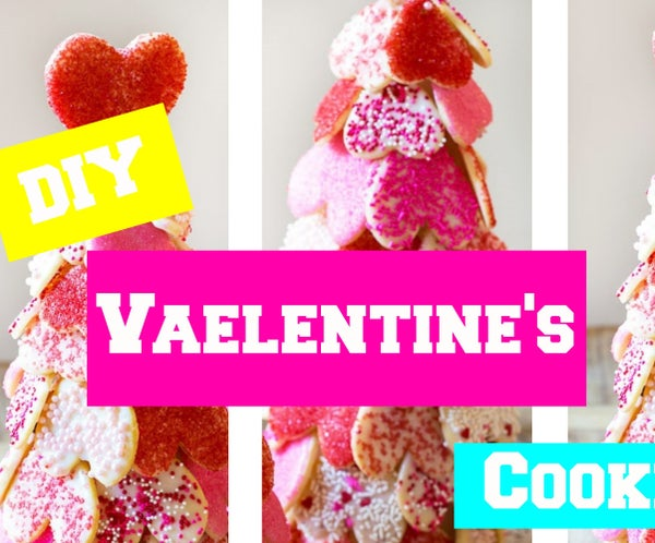 DIY Valentine's Cookies Tree - Valentine Baking Ideas