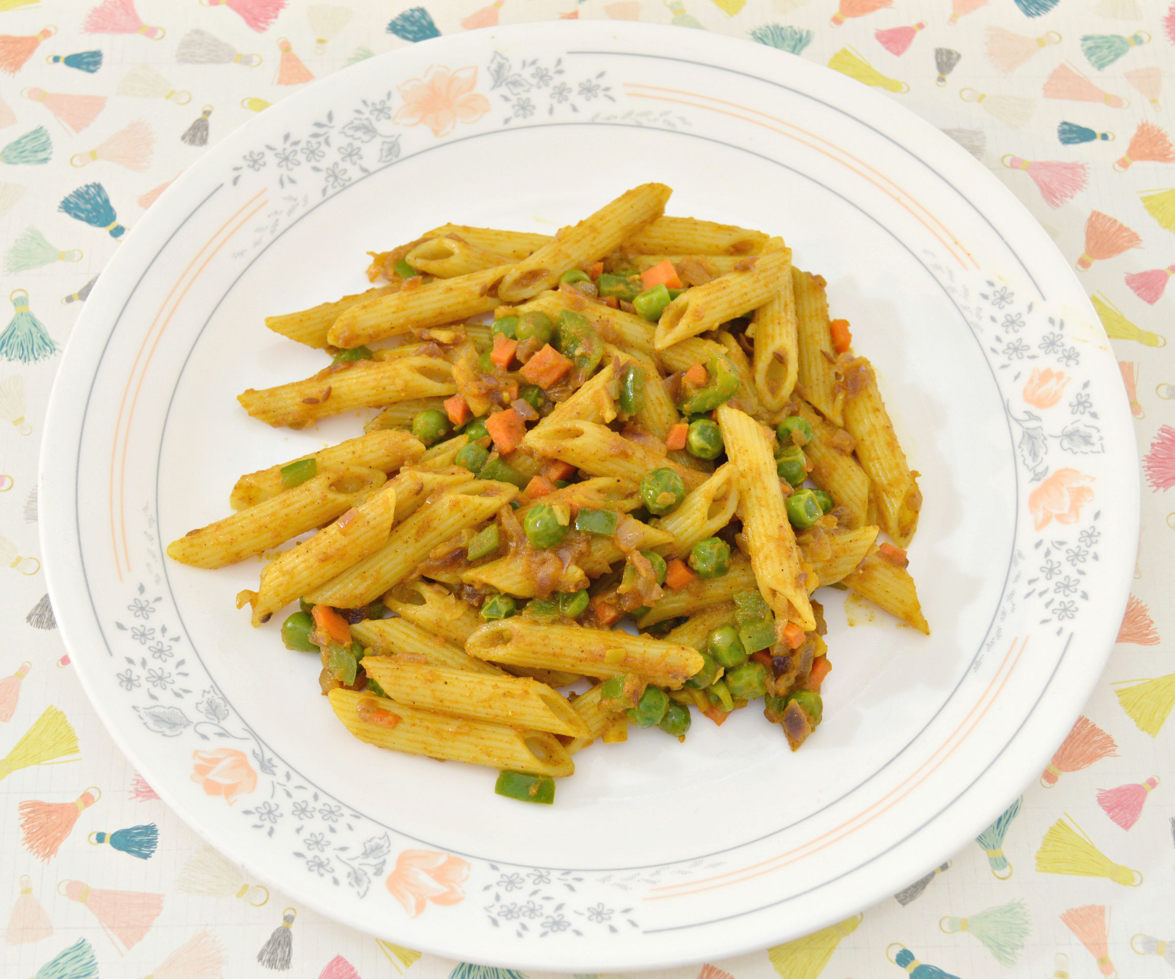 Pasta with Indian masala twist