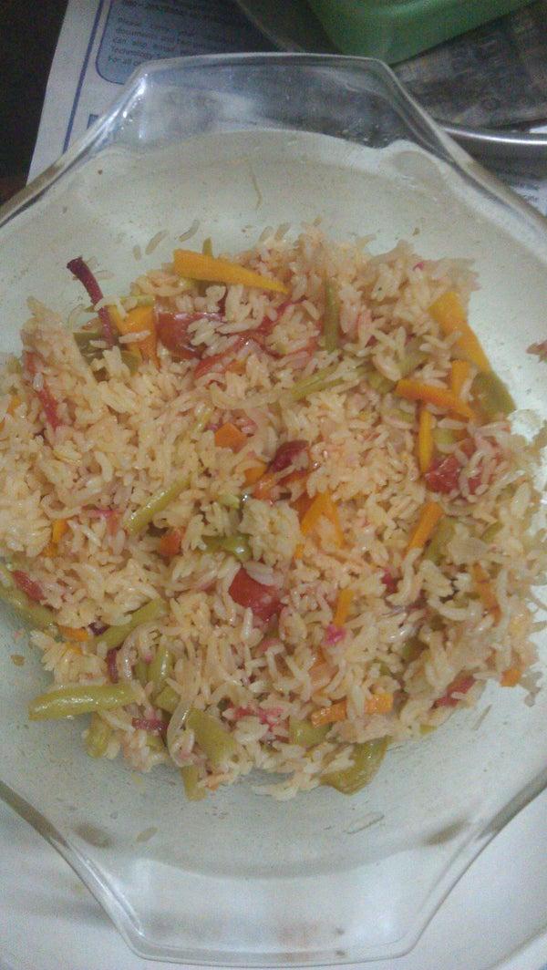 Simple Microwave Vegetable Rice
