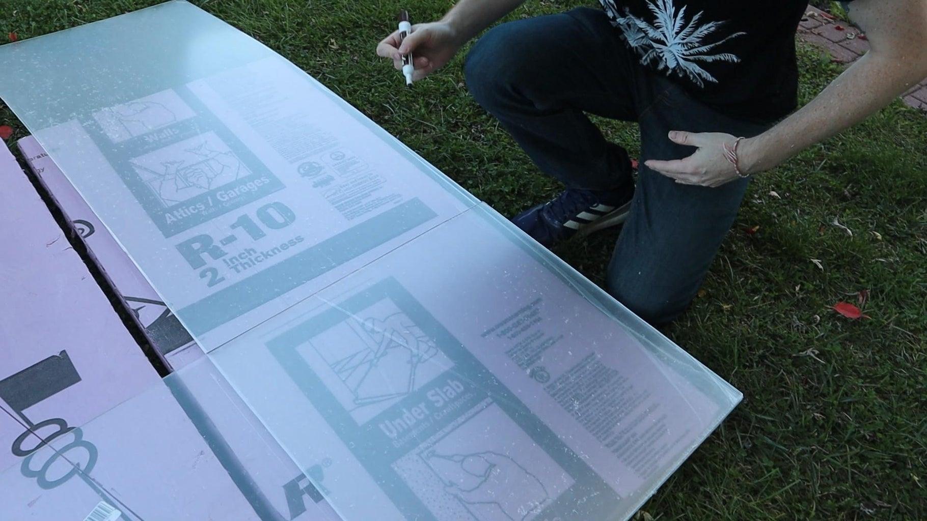 Break Down the Acrylic Sheet