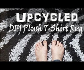 DIY Upcycled T-Shirt Rug – Plush Zebra Bath Mat Custom Design