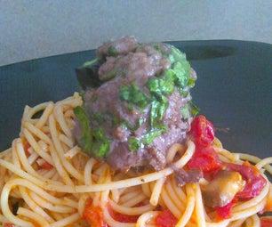 Spinach-Stuffed Spaghetti and Meatballs