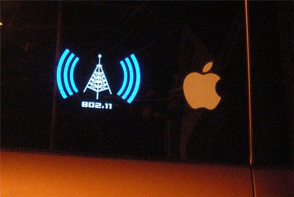ElectroLuminescent Bumper Sticker