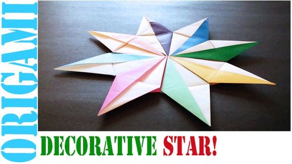 How to Make an Origami Decorative Star (Modular 8 Unit)