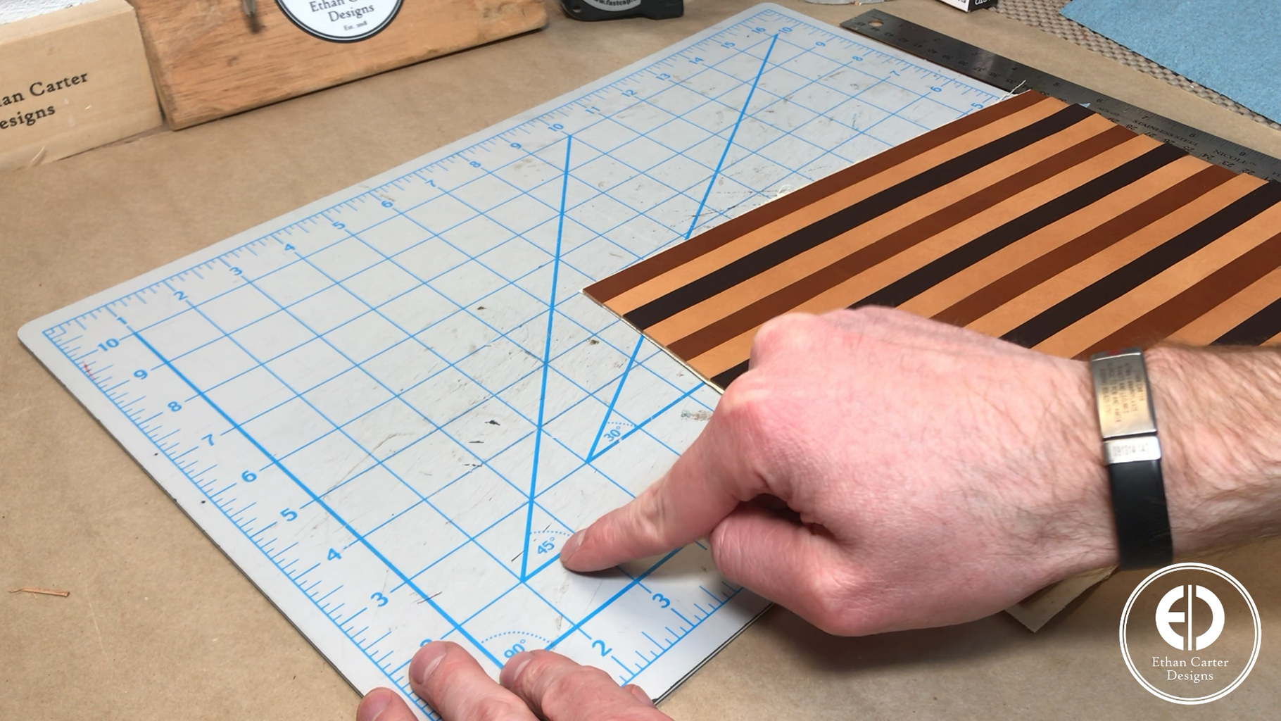 Cutting the 45 Degree Strips