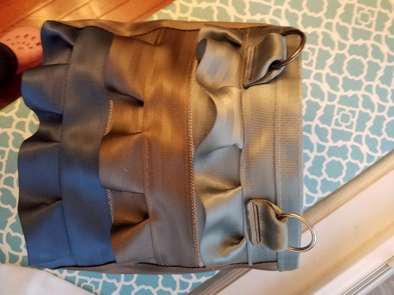 Sew Lining to Outside Shell With Seatbelt Rim