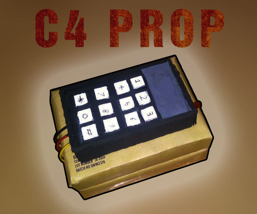 Cartoony C4 Prop (Movie and Cosplay)