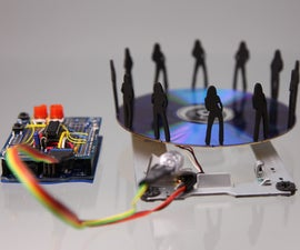 Stroboscope (zoetrope) Using Arduino and a Broken Xbox 360 DVD Drive