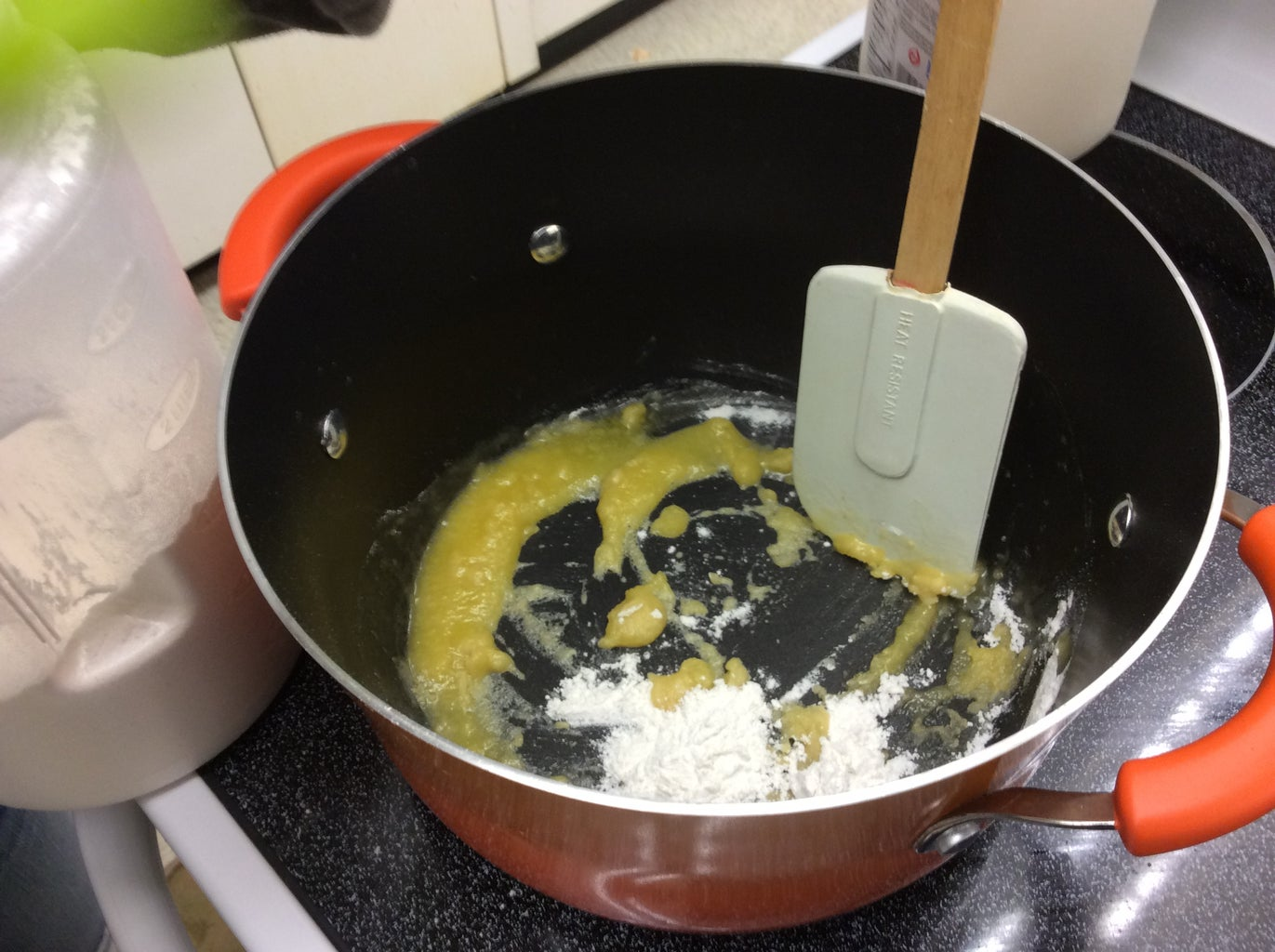 Add 4 Tbsp. of Flour and Stir Until Combined