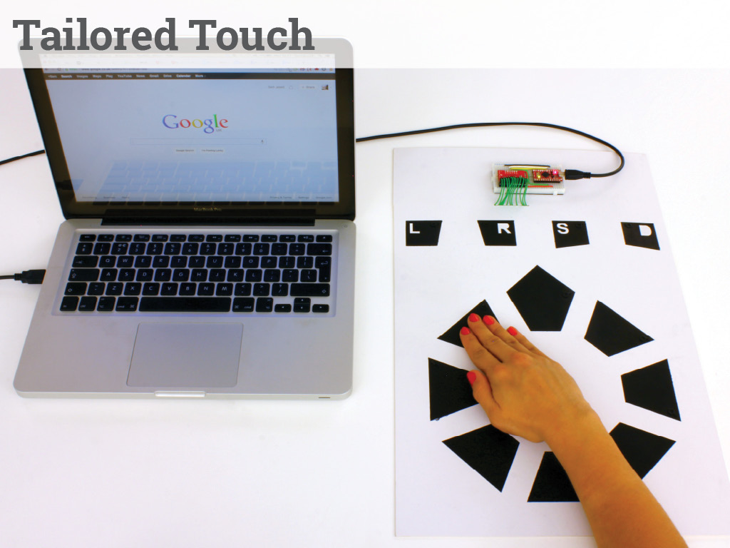 Tailored Touch - a mouse from touch sensitive pads, fitted to you