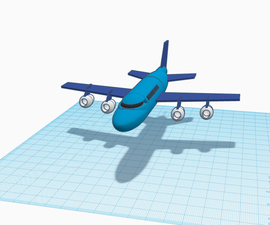 RC Airplane Airbus A320 in Tinkercad