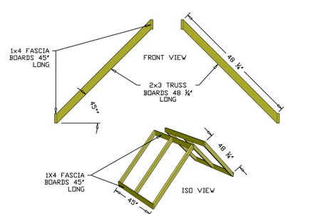 Build Lower Roof Trusses