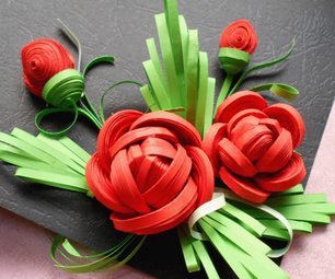 3D Quilled Rose by Handmade Tools.