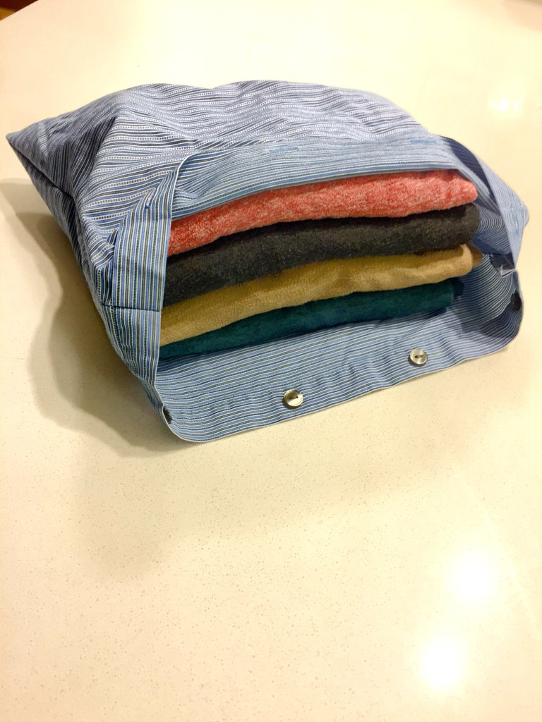 Packing Cube From Old Dress Shirt