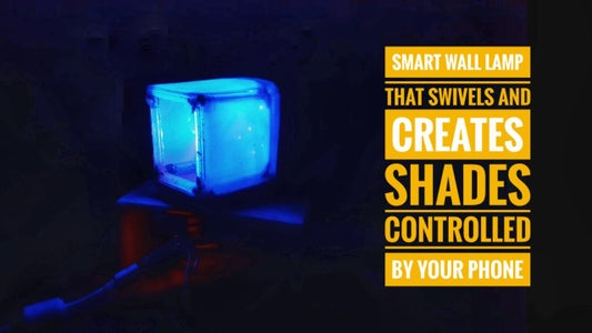 Smart Wall Lamp (That Swivels and Changes Shades Controlled by Your Smart Phone