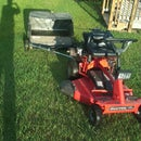 Lawn Sweeper: Offset Hitch for Two Operations in One Pass