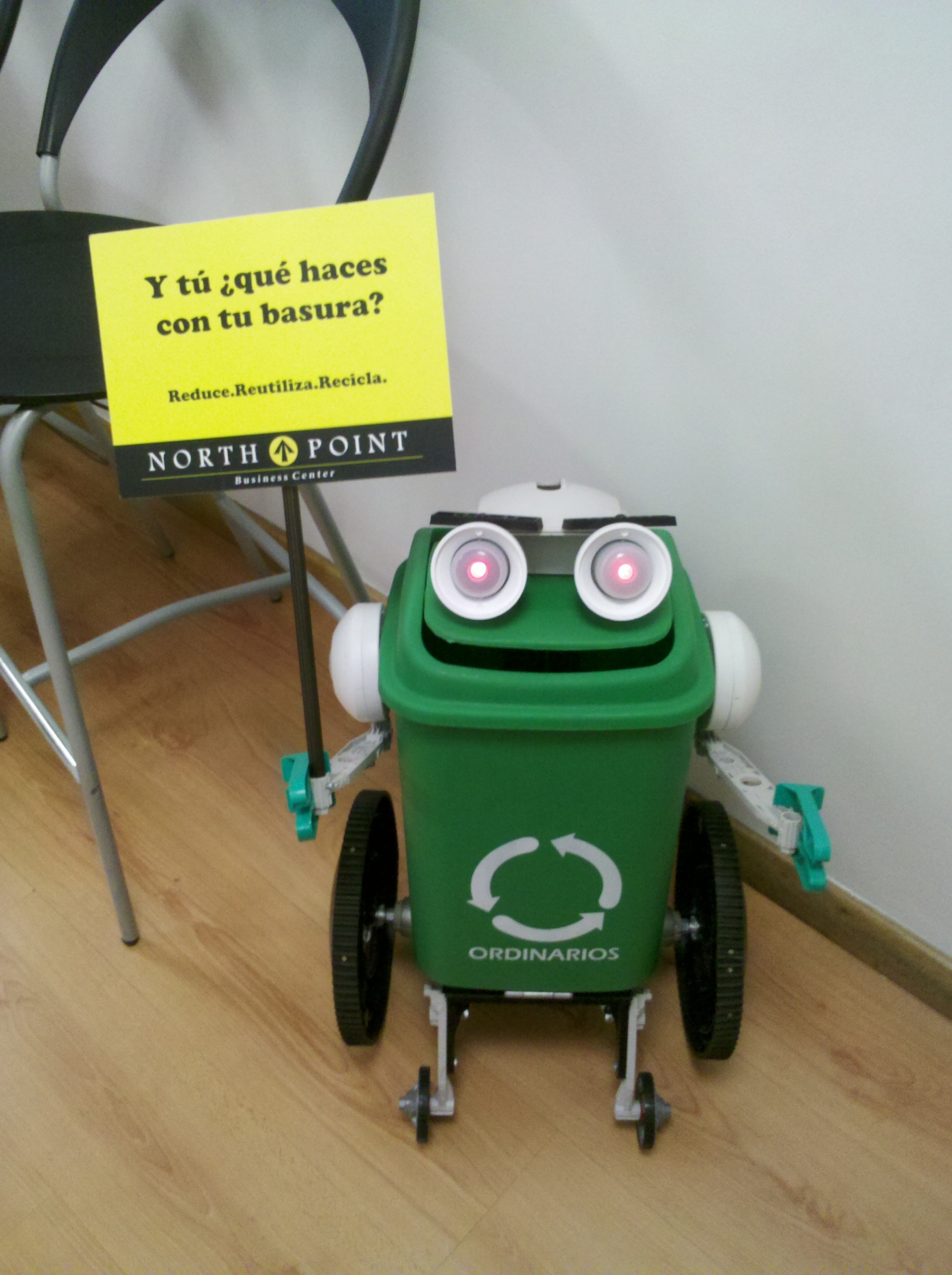 Make a 3R (Reduce, Reuse, Recycle) Campaign for your office (with a R/C robot and junkbots)