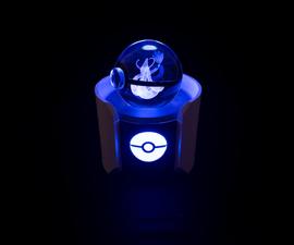 Glass Pokeball Friendship Lamp