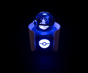 Glass Pokeball Friendship Lamp