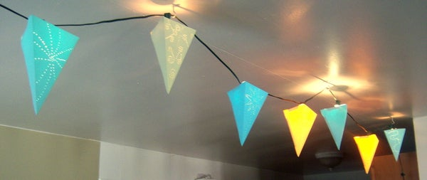 String of Paper Pendant Lights