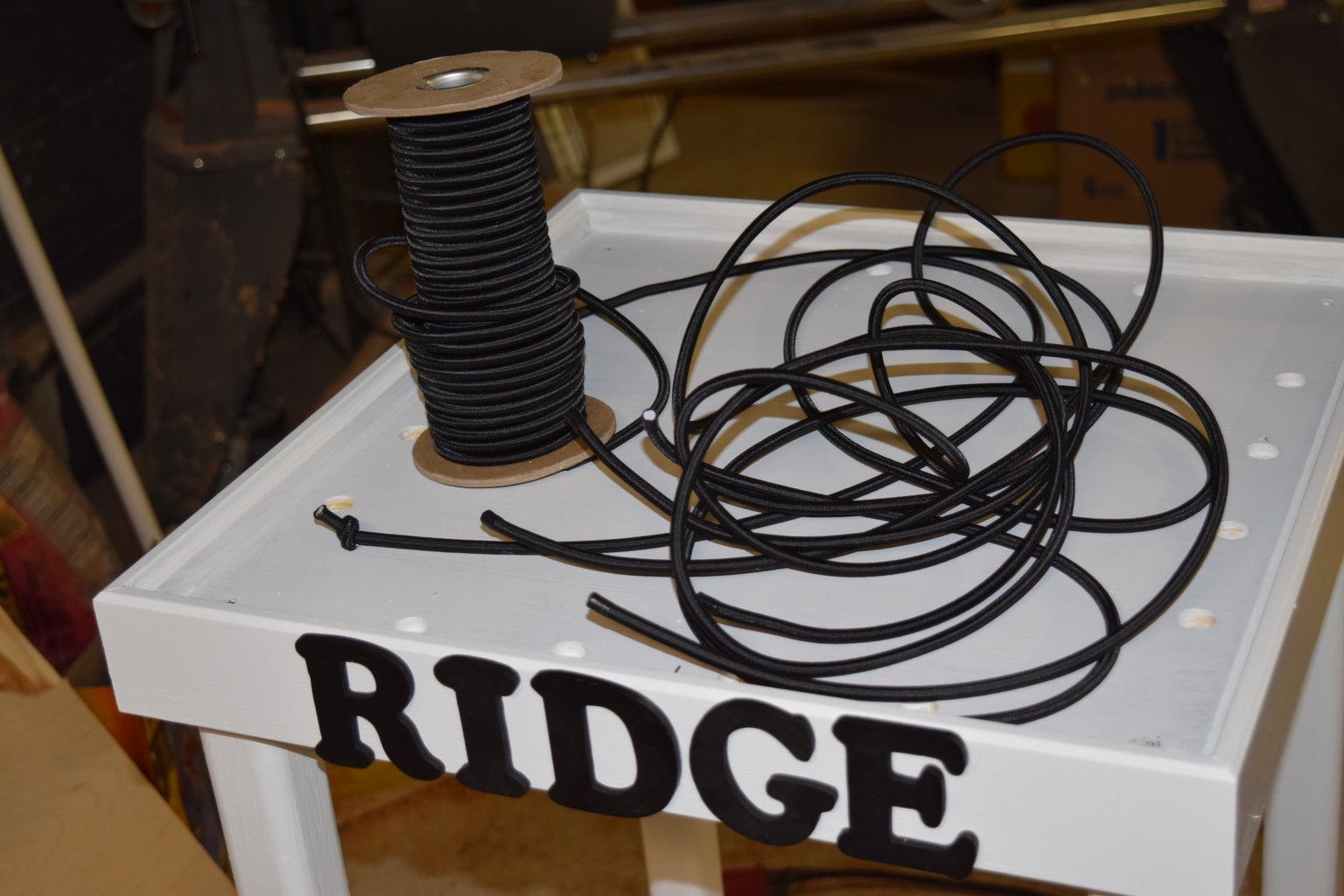 Lettering and Bungee Cord